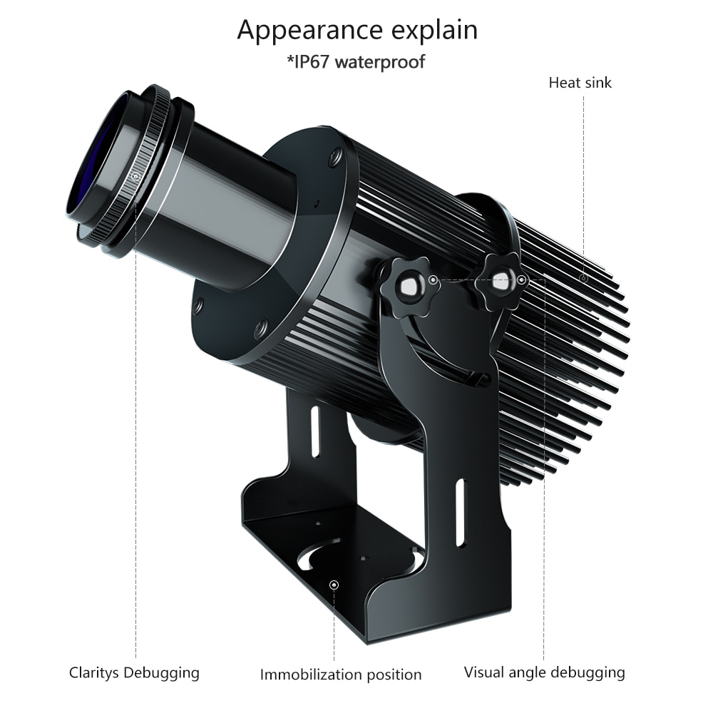 Waterproof Outdoor IP67 50watts Advertising Rotating LED Gobo Logo Projector The logo light