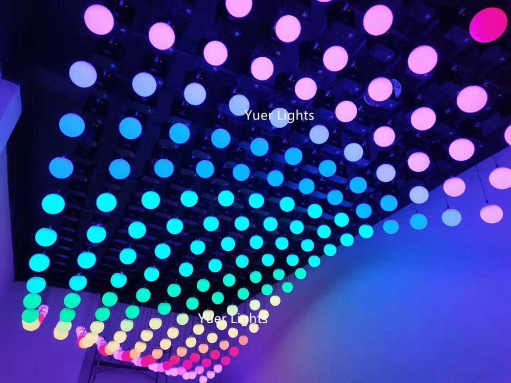 3D Up Down 140W DMX RGB LED Lifting Ball Modern Wave Effect 0-5 Meter Colorful Kinetic Light Lift Ball For Stage Disco Dj Party
