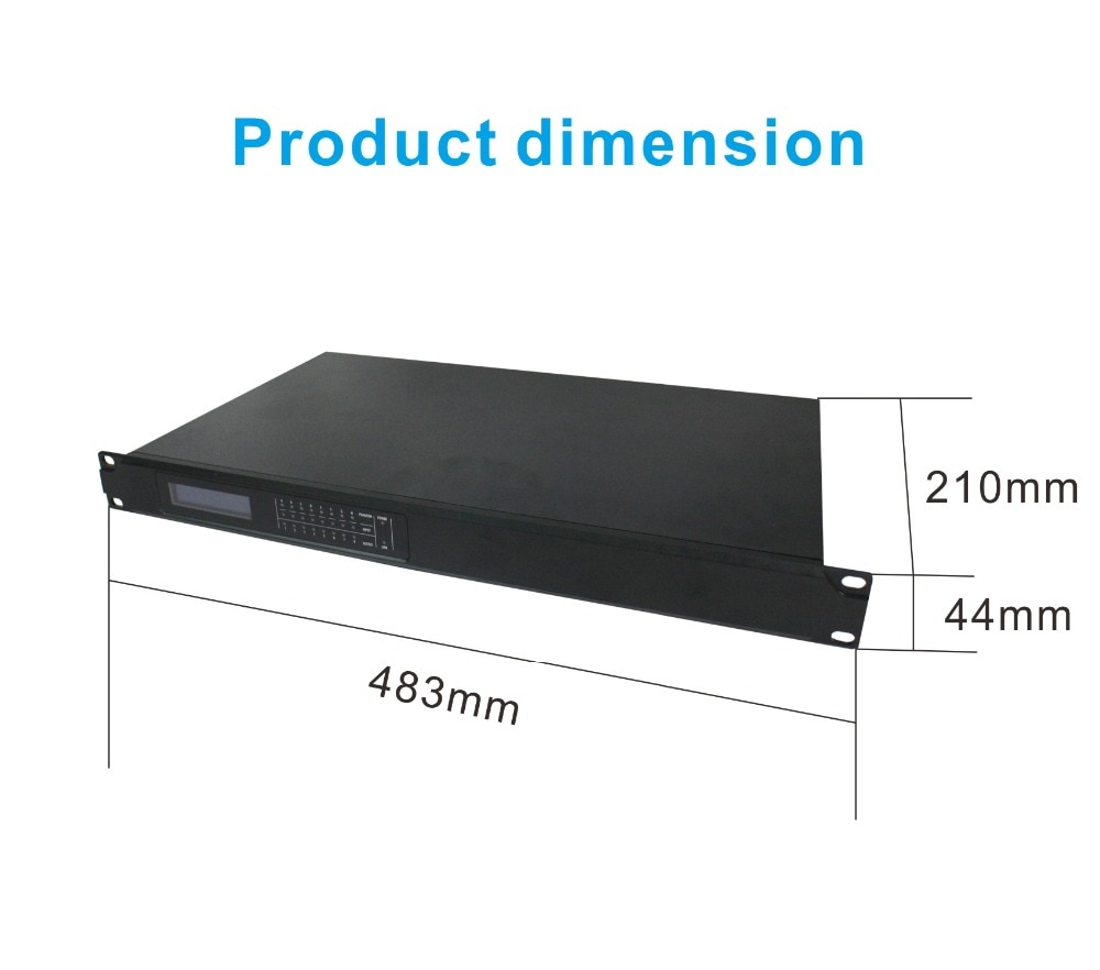 16 in 16 out DSP Professional Dante Audio Transmitter/Converter and Sound Processor for PA Public Address System