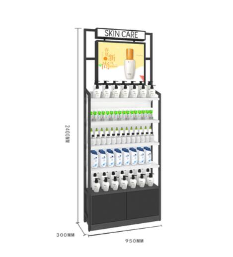 Beauty salon cosmetics display cabinet store special skin care products shelf modern and simple