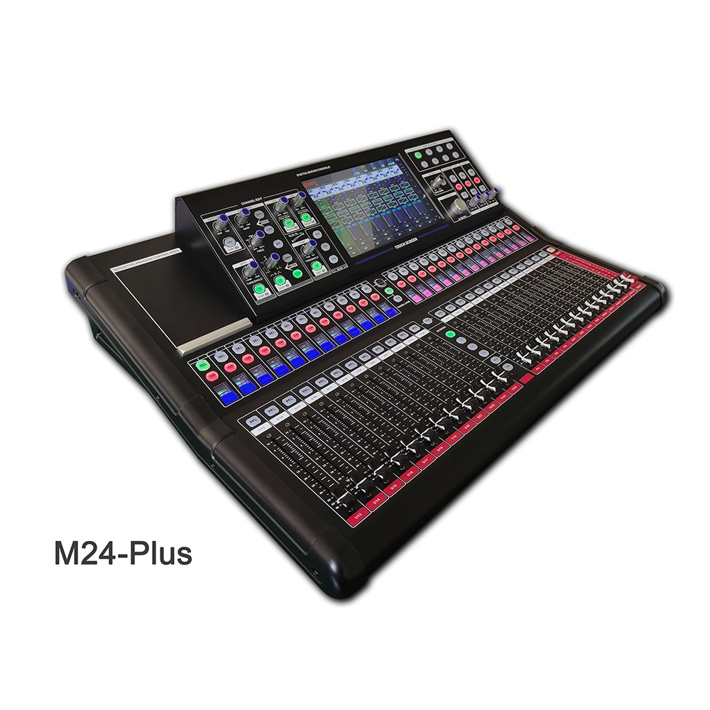 Paulkitson M24 Console Mixer Professional Stage Performance 34Channel Digital Mixer Recording Mixing DJ Audio Sound System