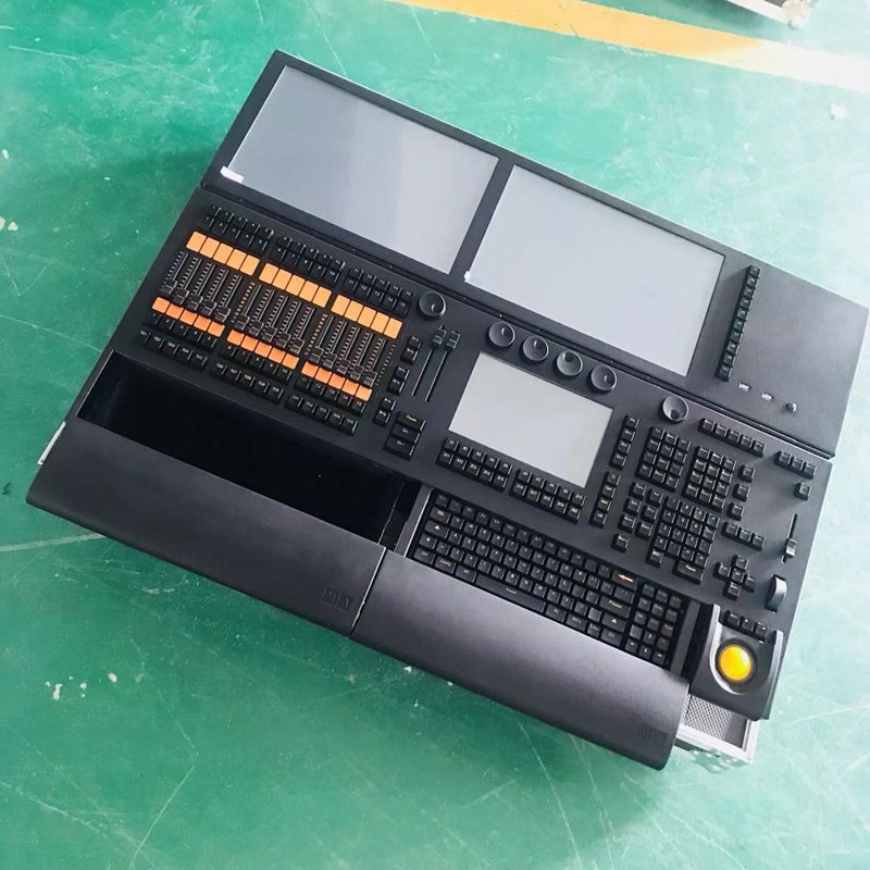 Free Shipping MA Double Touch Sreen Stage Effect Light  Controller Console for DJ Disco Linux Grand Ma2 Motorized Fader
