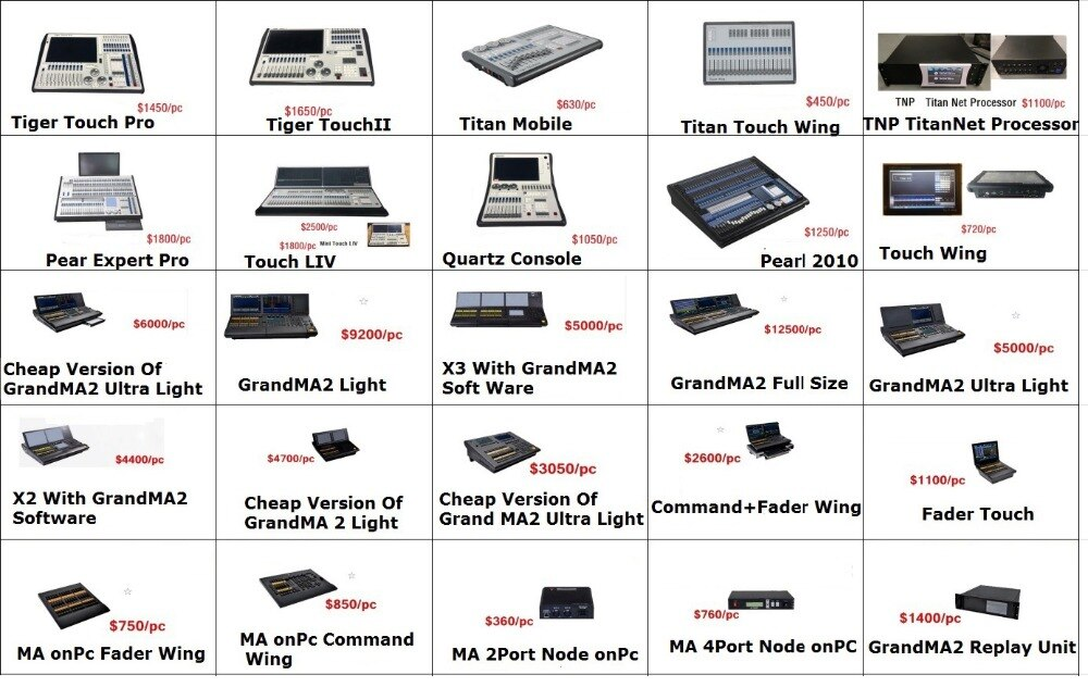 Professional Kingkong 1024I DMX Controller LED Par Moving Head Lights Console Built In 135 Graphics Stage DJ Lighting Equipments