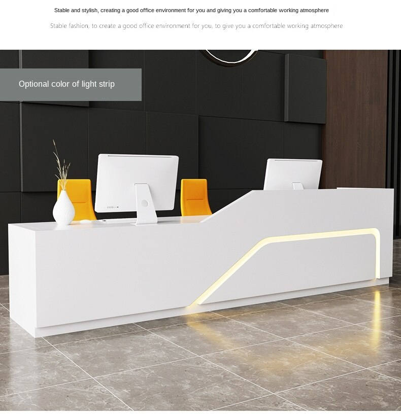 Reception Desk Simple Modern Beauty Salon Cashier Hotel Welcome