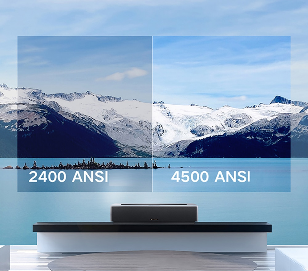 Fengmi Max real 4K resolution 4500 ANSI Lumens Laser Projector with DTS and MEMC Home Cinema Support 8-point keystone correction