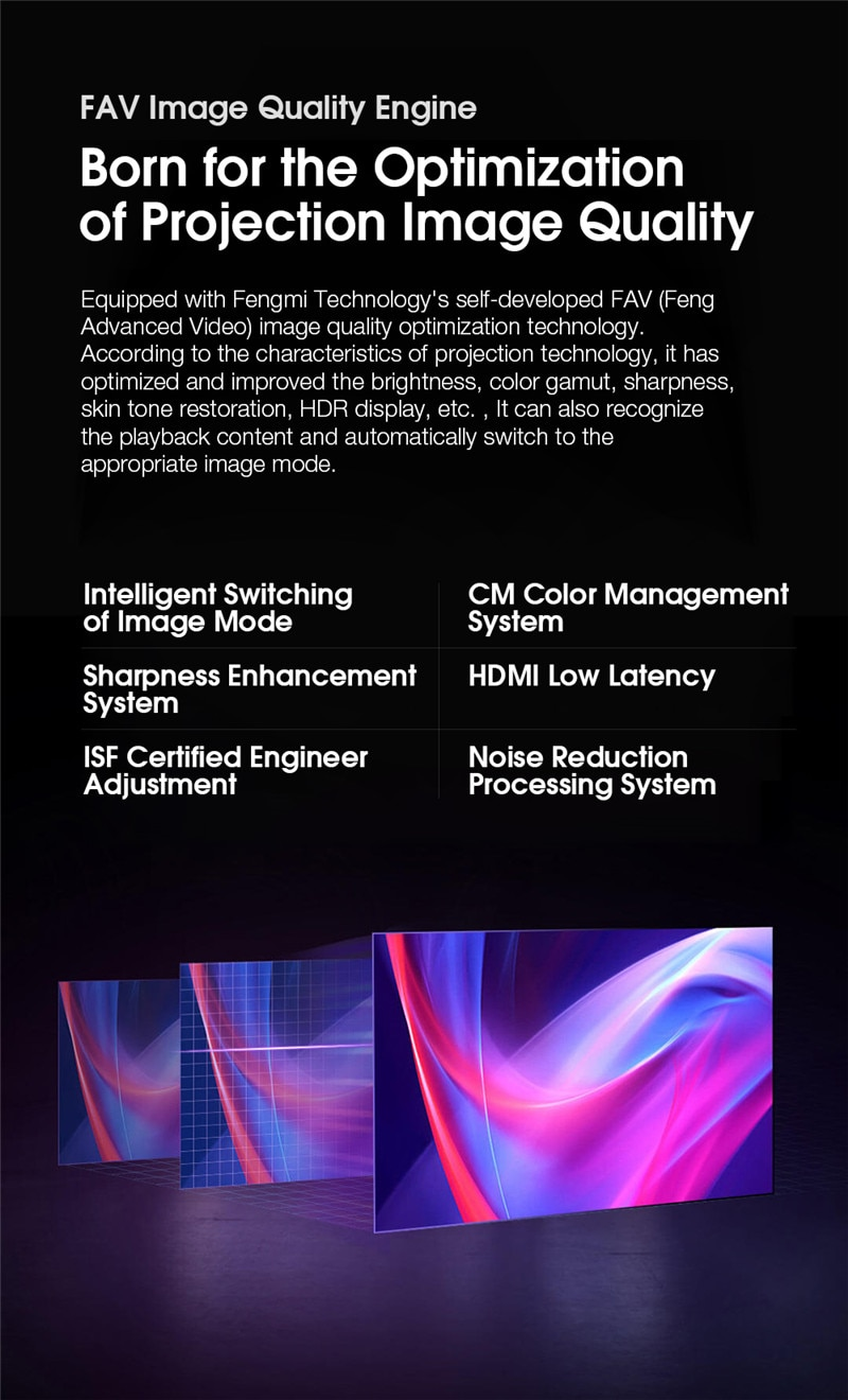 XIAOMI FENGMI 4K MAX Laser Projector 4500ANSI Ultra Short Throw DTS Virtual X Sound MEMC Smart Android WIFI Cinema Home Theater