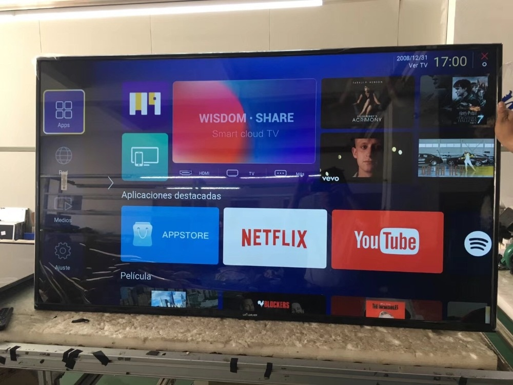 Wholesale WIFI LAN 43 50 55 60'' inch full HD smart led lcd  television TV