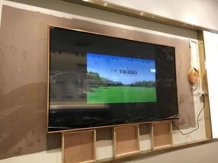 60'' inch lcd monitor and android smart curved screen TV Dolby DVB-T2 S2 wifi bluetooth TV led television tv