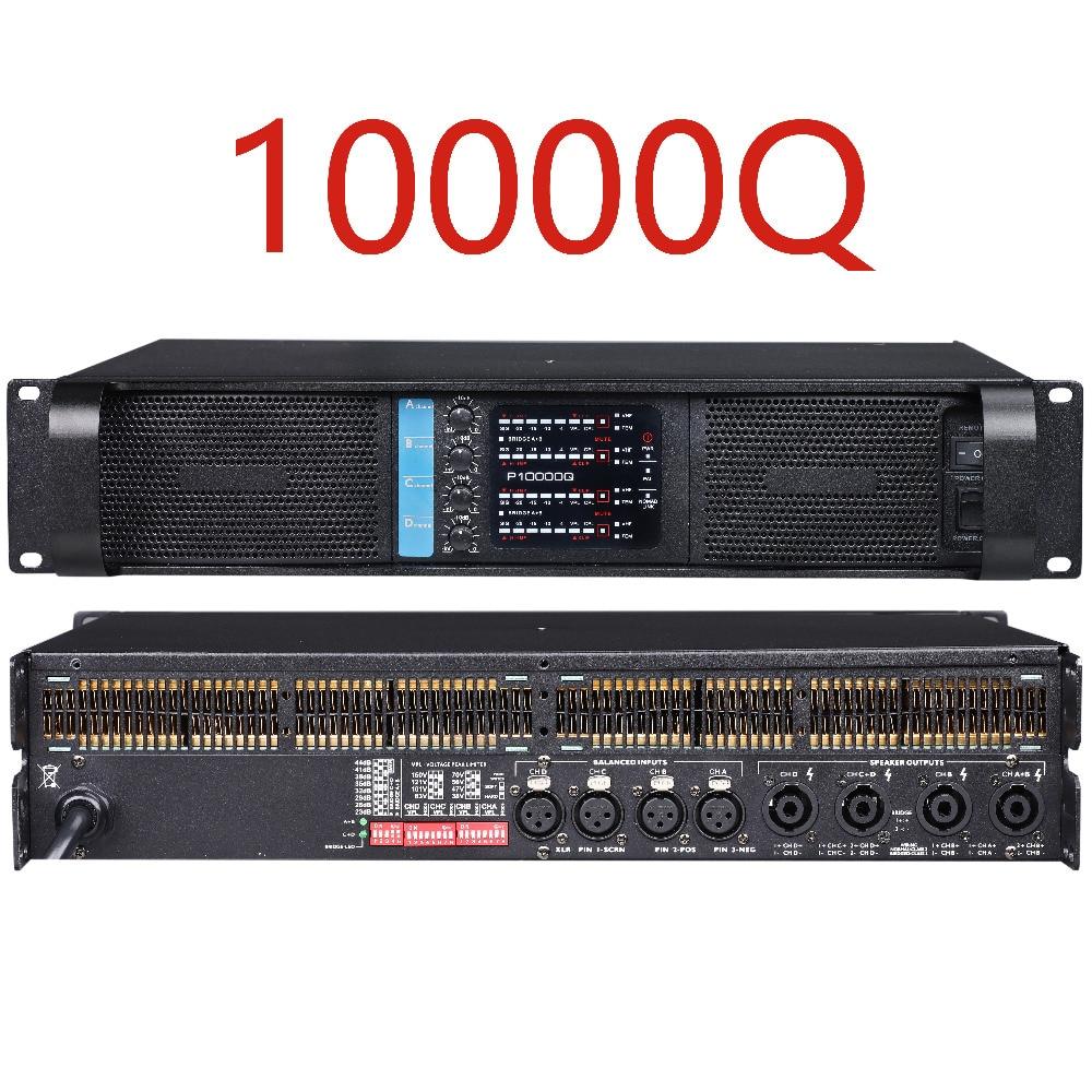 Betagear 10000Q New Line Array Amplifier 2500W*4 Channel Amplifier Professional Sound System DJ Power Audio Amplifier High Power