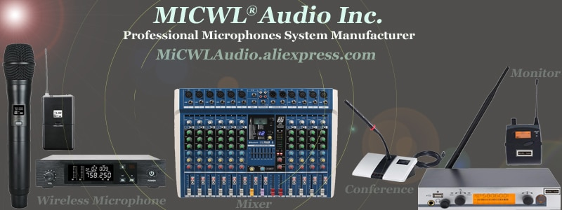 MiCWL Audio Wireless Microphone 400 Channel Professional Cordless 8 Handheld System for Meeting Stage sound program recording