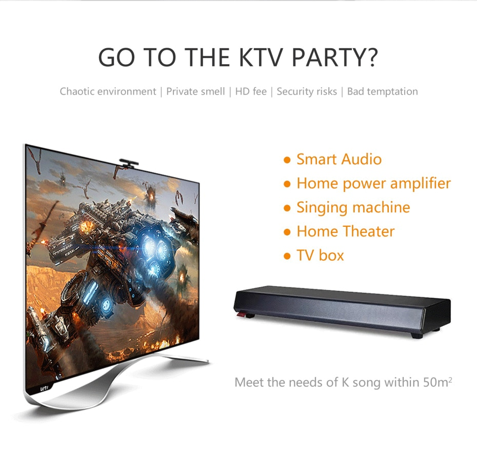 Smart TV KTV sound system Home Entertainment Machine Smart Echo Wall Audio Professional Karaoke