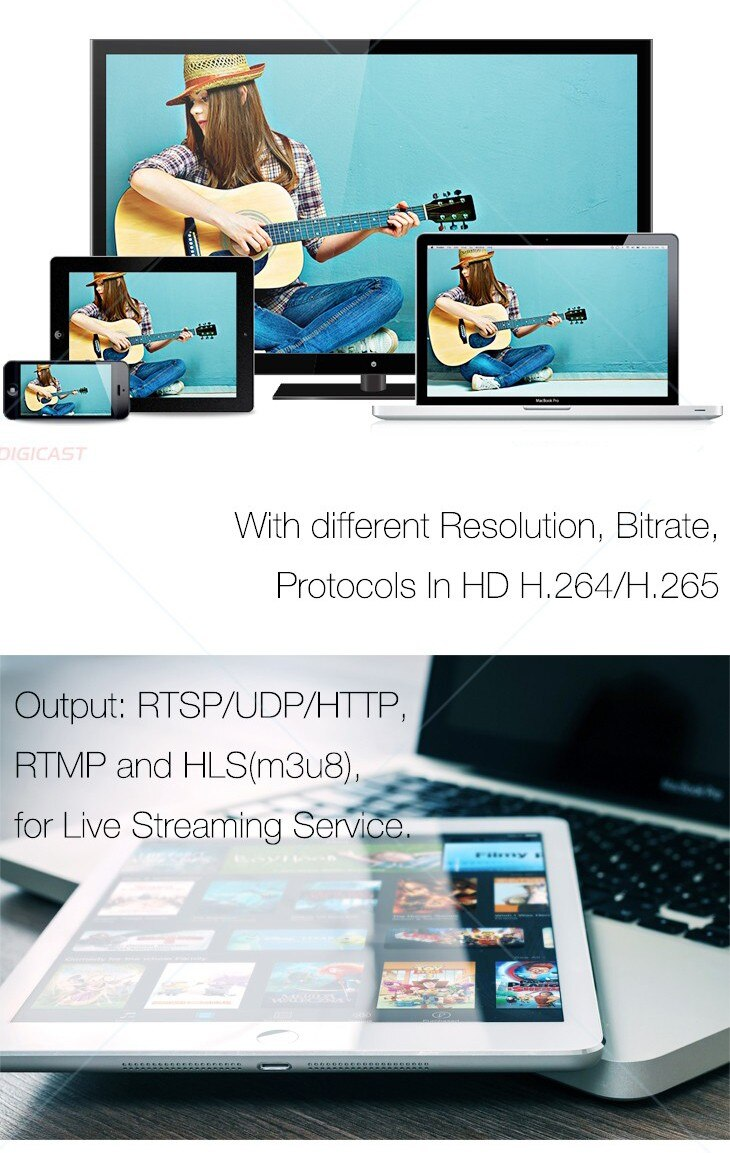 DMB-8804A-EC Classic Live Streaming Encoder Streaming Media Server Digital TV Broadcasting Equipment