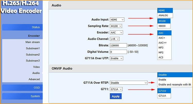 URay 1080P Live RTMP Encoder HD 3G SDI To IP Encoder H.265 HEVC H.264 /AVC For IPTV Live Broadcast Streaming Media Server