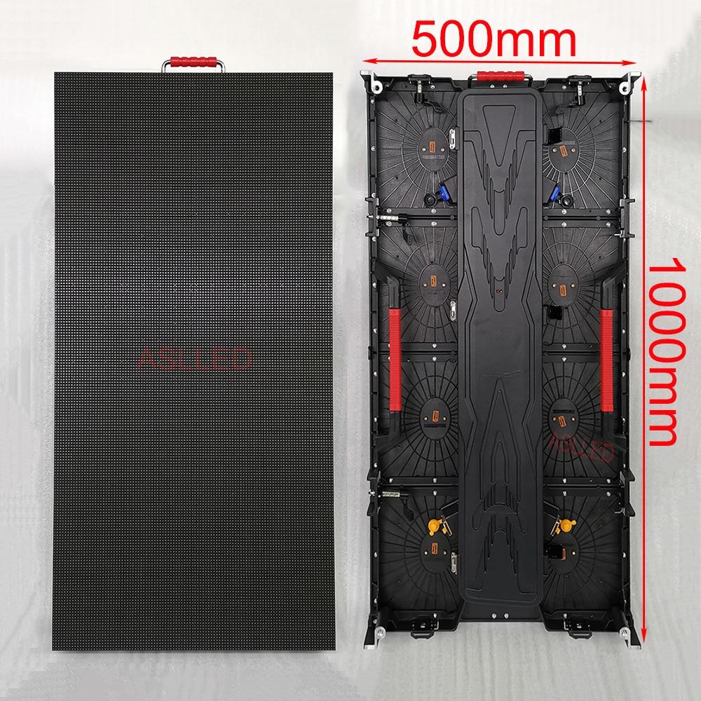 4 Pcs P3.91 Outdoor High Brightness Waterproof LED Display Panel 500*1000mm Size 1Pcs HD-A4 LED Display Player Free Shipping