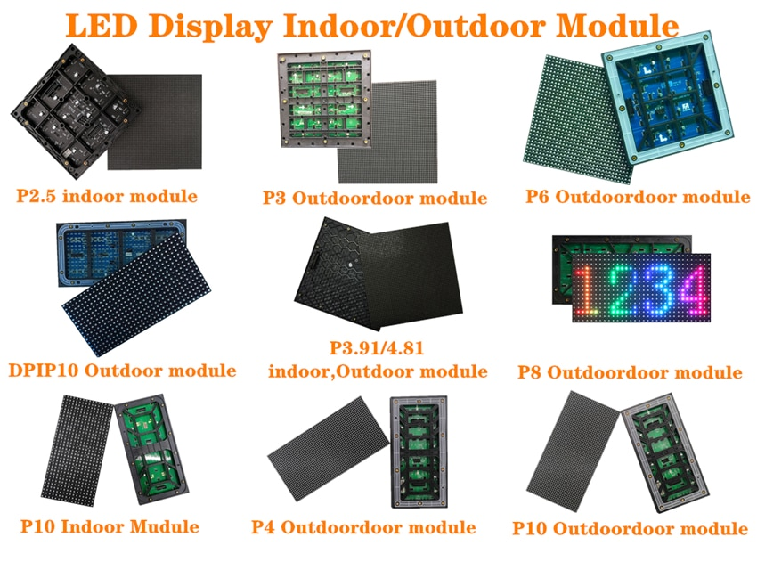 3000x500mm Full Color LED Display Screen P3.9 Outdoor SMD1921 500*500mm Aluminum Cabinet LED Panel