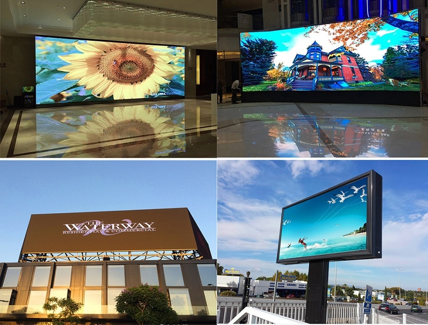 Free Shipping 2x1m Led Screen 4pcs 500x1000mm Outdoor P3.91mm Die Casting Aluminum Panel, HD-A3 Wifi Controller LED Display