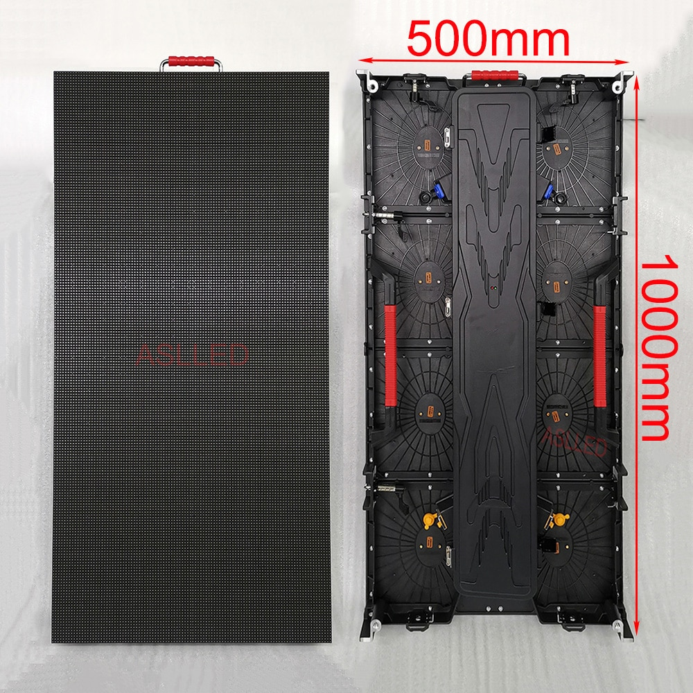 Outdoor Waterproof P3.91 LED Sign Display 500X1000mm Size Die-Cast Aluminum Cabinet P4.81 LED Matrix Screen TV Shenzhen Store