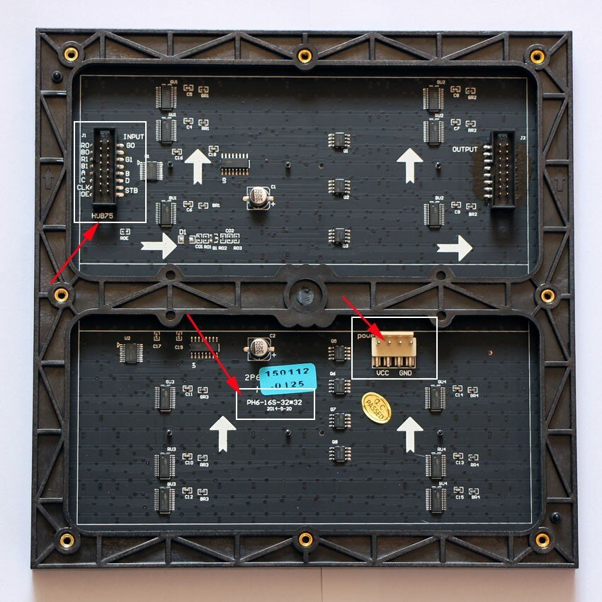 P6 RGB SMD 192mm*192mm 32*32pixels LED Display Module 1/16 scan drive indoor Full color display screen panel,P6 ***  board