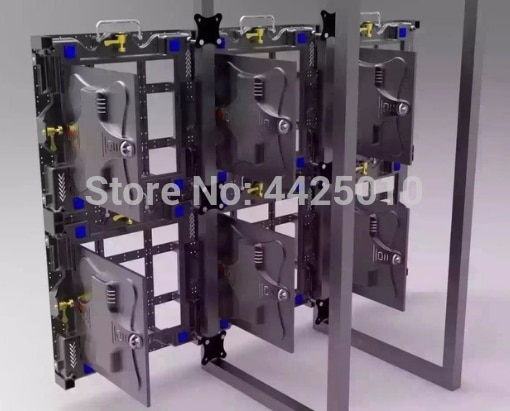Die-cast aluminum LED cabinet P4.8 Led diplay panel 500mm*1000mm LED panel indoor led screen