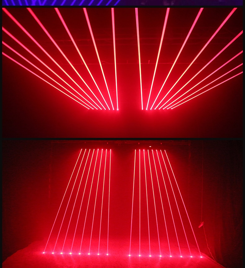 Fast Shipping 8 Eyes RGB Stage Effect Laser Bar Beam Lighting for DJ Disco Moving Head Projector Wash Spot DMX Control