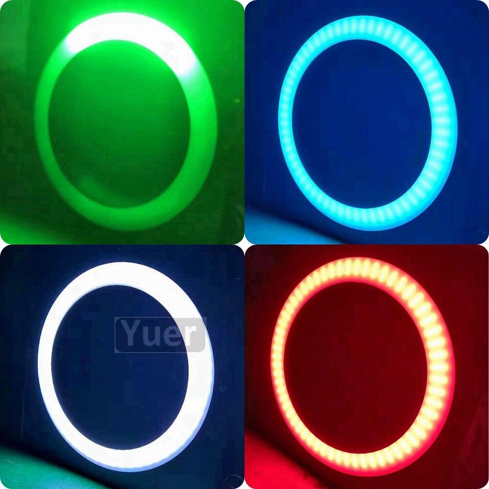LED Stage Lights 144Pcs LED Halo Pixes Background Light DJ Disco Sound Activated Laser Projector RGB Effect Lamp Light Music KTV
