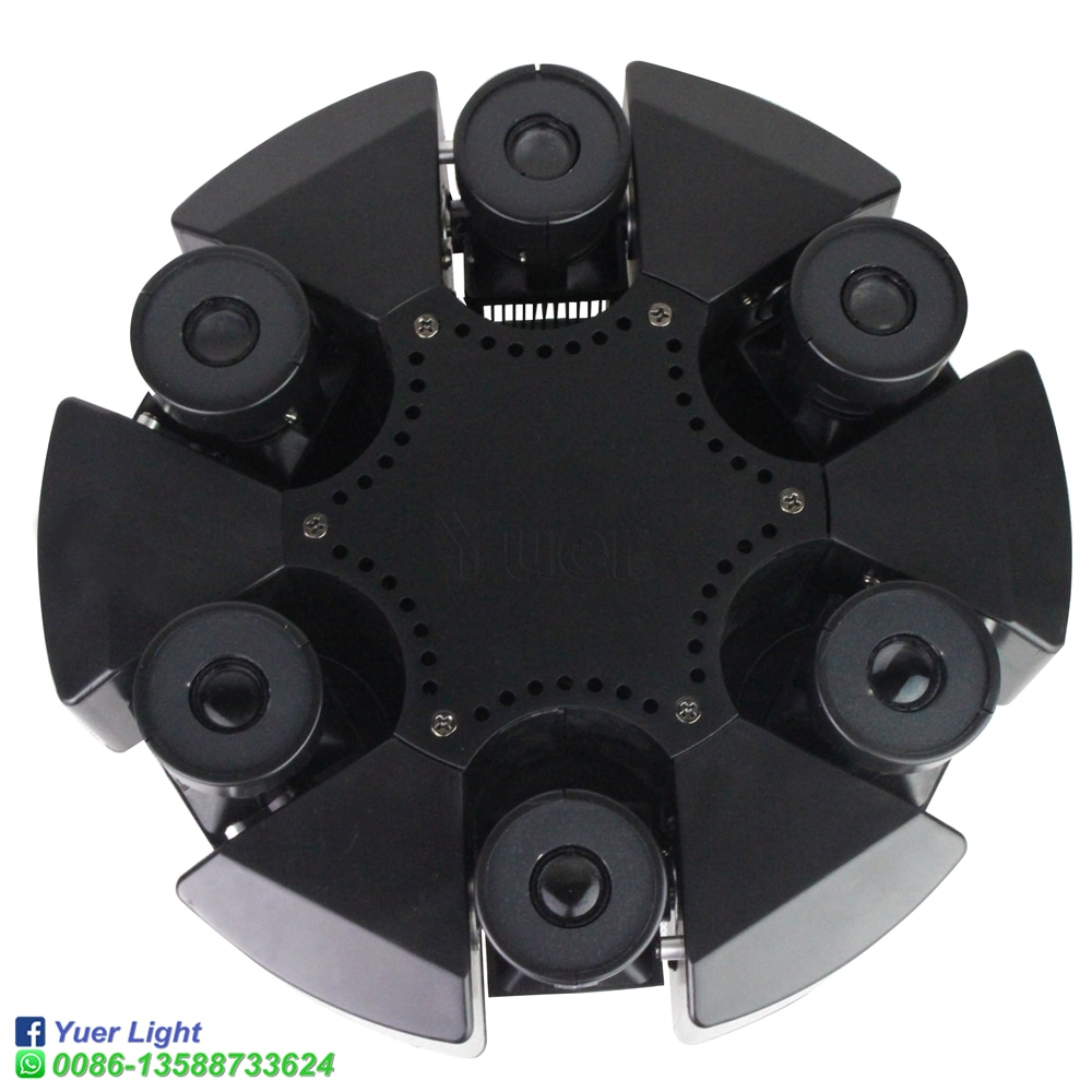 4Pcs/Lot DMX512 RGB Beam DJ Disco 6 Heads Moving Head Laser Projector Party Holiday Christmas Wedding Dance Stage Lighting
