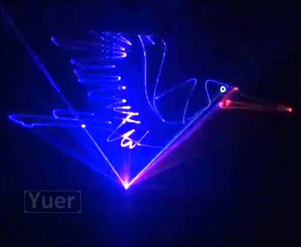 2Pcs/Lot Full Color Animation Laser Light DMX 512 Voice Control Music Rhythm Flash Lights Projector Stage DJ Disco Party Light