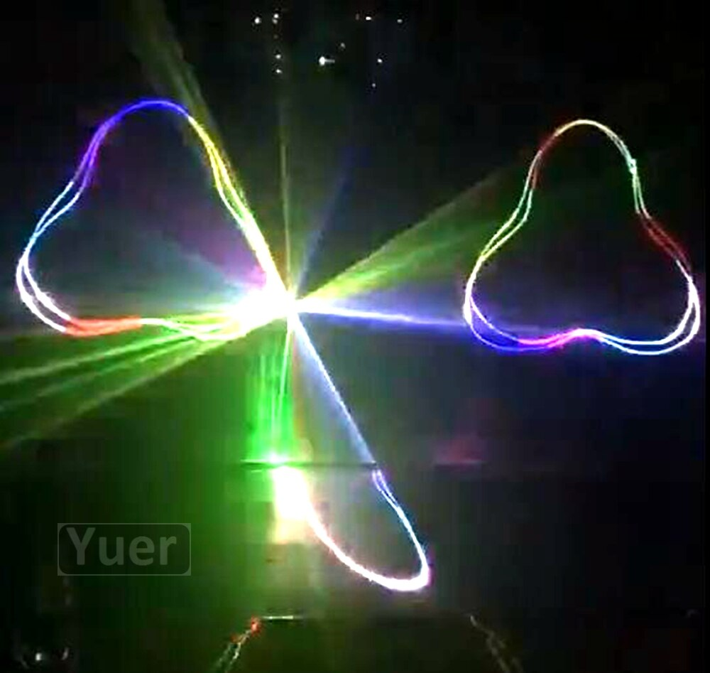4Pcs/Lot 2019 New Disco Laser Light 1W Full Color Animation Laser Projector Stage DJ Light DMX Voice Control Music Flash Lights