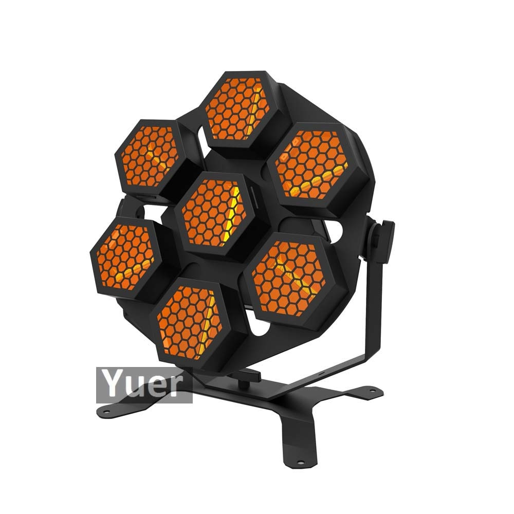 2Pcs/Lot 7x30W LED Retro Stage Lights Whirlwind Laser Projector Effect Light DJ Disco DMX Control Sound Party Stage Effect Light