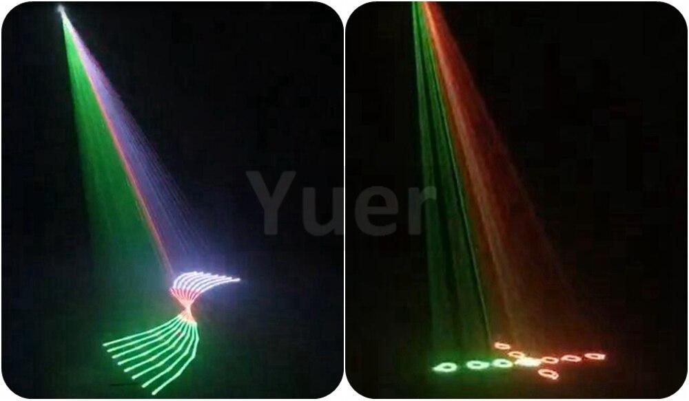 RGB Laser Projector Light 2W Full Color Animaton Laser Light  Remote&Voice Control DJ Party Home Wedding Disco Decoration Lamp