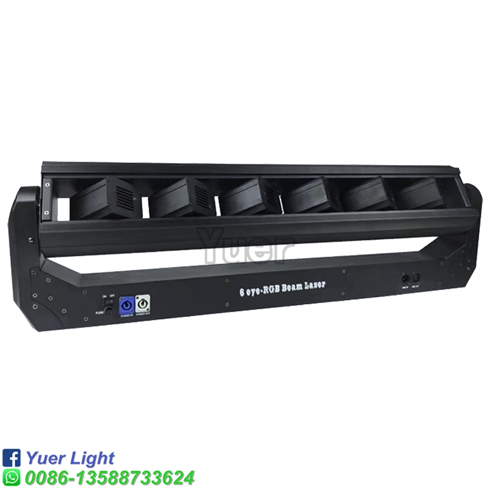 2Pcs/Lot 6 Eyes Moving Head Laser Lights Laser Beam500MW*6Pcs Disco Dj Equipment projector Party Club laser stage lighting
