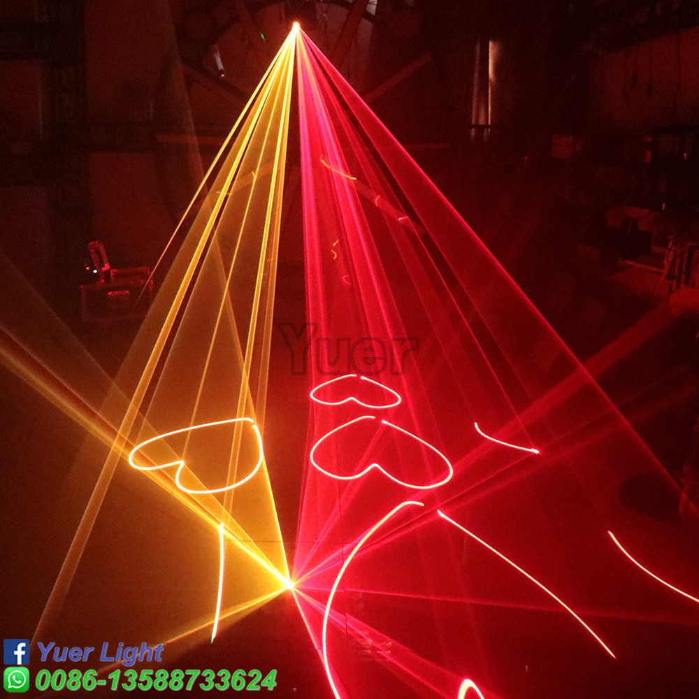 2Pcs/Lot RGB Pattern Laser Light Stage Scanner Christmas Laser Projector 1.5W DJ Disco Laser Lighting DMX 512 Signal Control