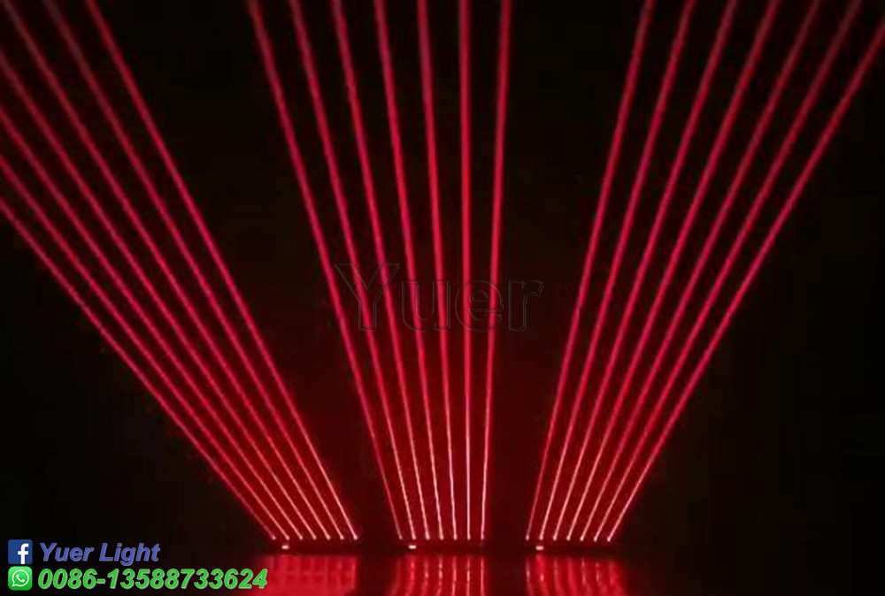 8 Eyes Full Color RGB Rotating Voice Control Laser Bar Beam Stage Effect Lighting For DJ Disco Moving Head Projector DMX Control