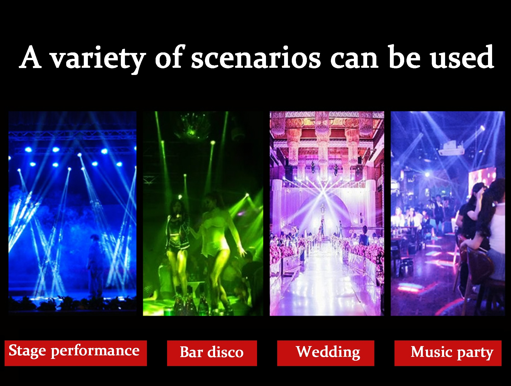 RGBWY six-eye LED projector DMX512 laser disco party DJ music Christmas club professional stage lighting