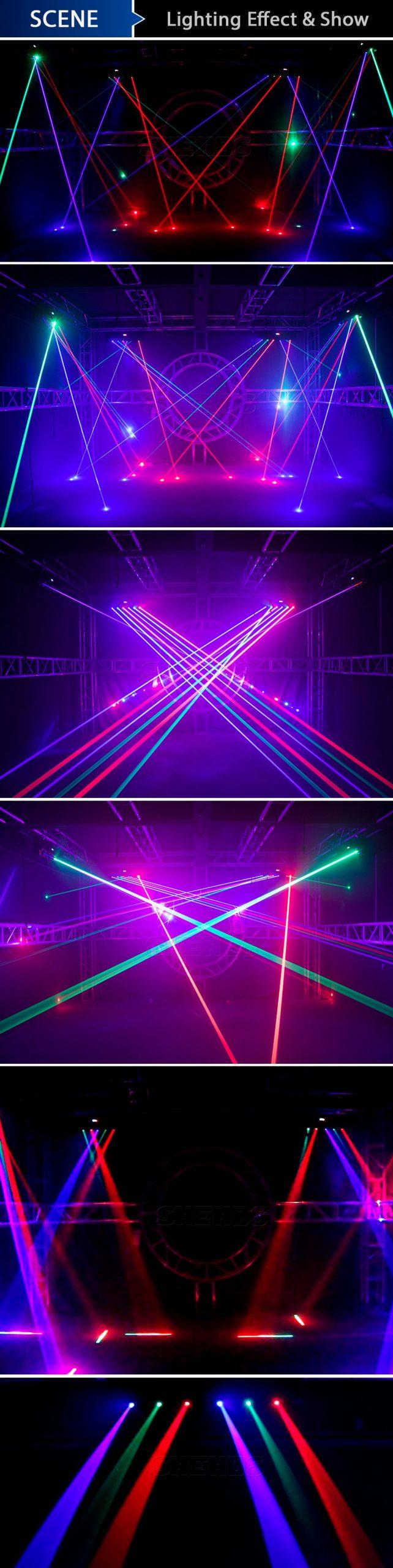 Laser Moving Bar 6x500mW 6 Eyes RGB Stage Effect Bar Beam Moving Head Light DJ Party Disco Wedding Stage DMX Control Projector