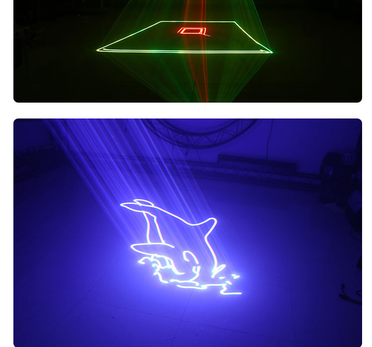 3W ILDA+DMX Strong Beam Stage Laser Light RGB Colorful Professional Lighting DJ Disco Club Animation Projector