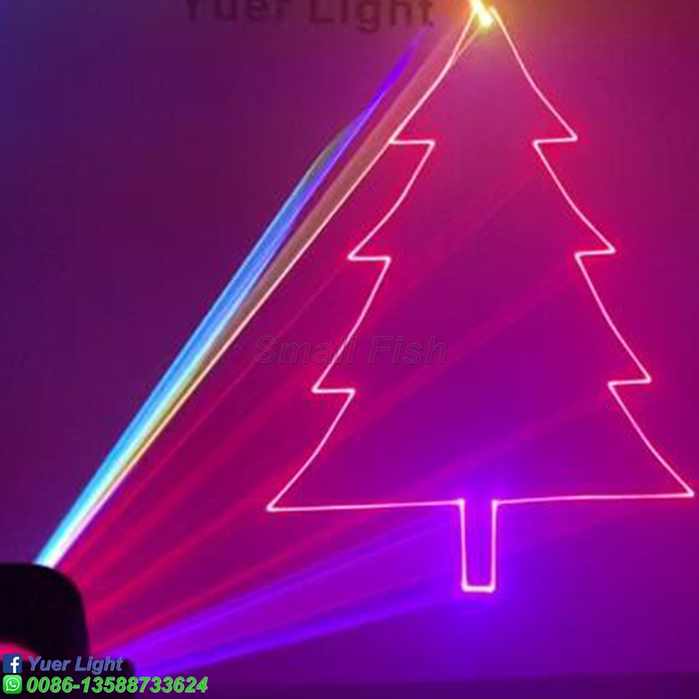 Remote Control 6W RGB 3IN1 Animation Laser Projector Professional Stage Dj Lighting Effect DMX Scanner DJ Disco Party Show Light