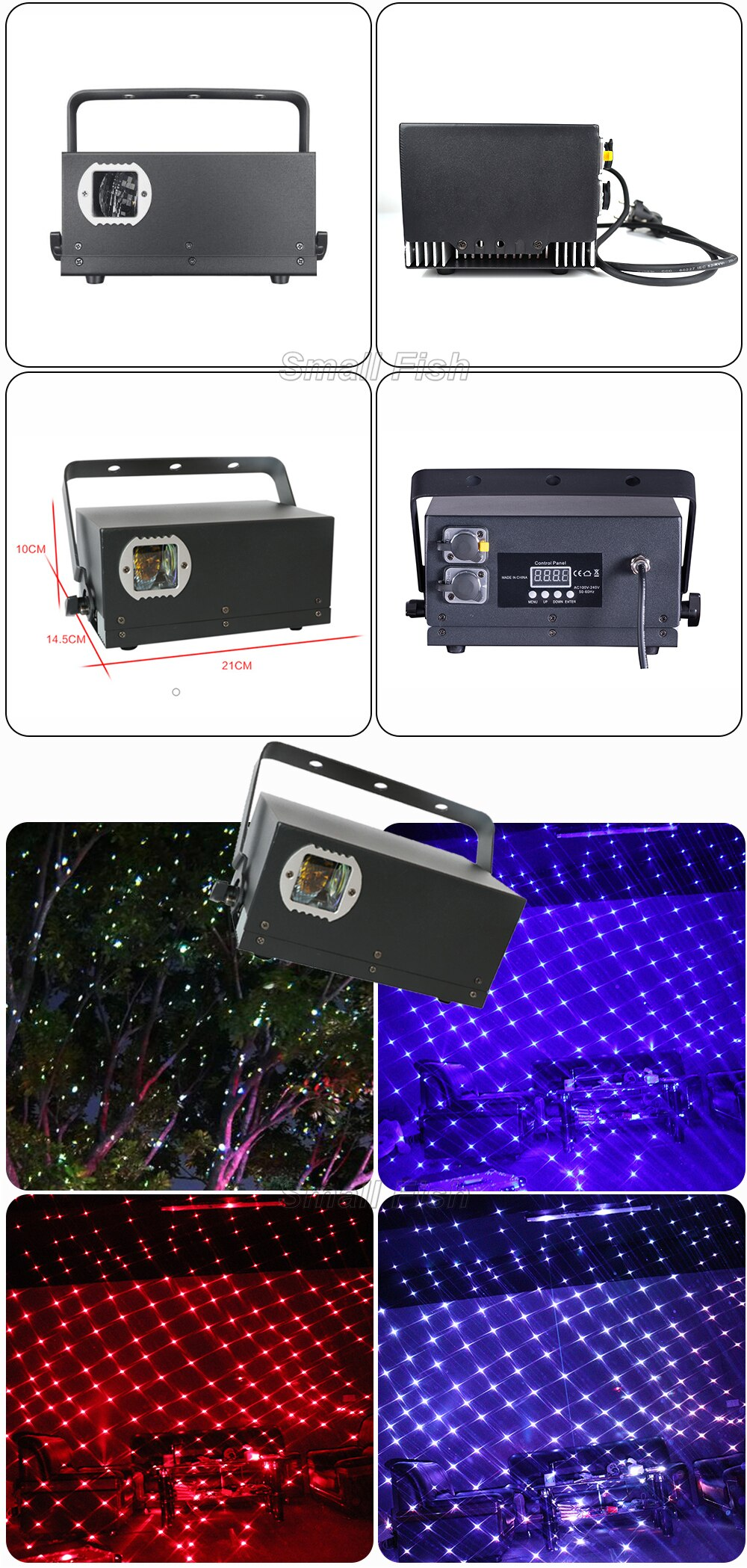 2W Waterproof all White Starry Sky Laser Light RGB Stage Starry Sky Pattern Effect Projector For Wedding Banquet Disco DJ Indoor