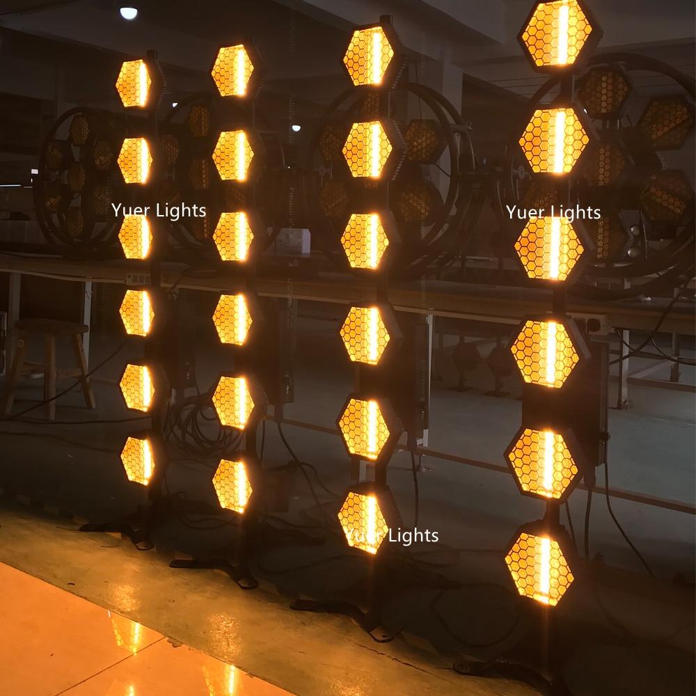 LED Retro Flash Lights High Power 6X60W Six-Line Hexa Pixel Lights Wedding Holiday Stage Wash Lighting Effect Dj Laser Projector