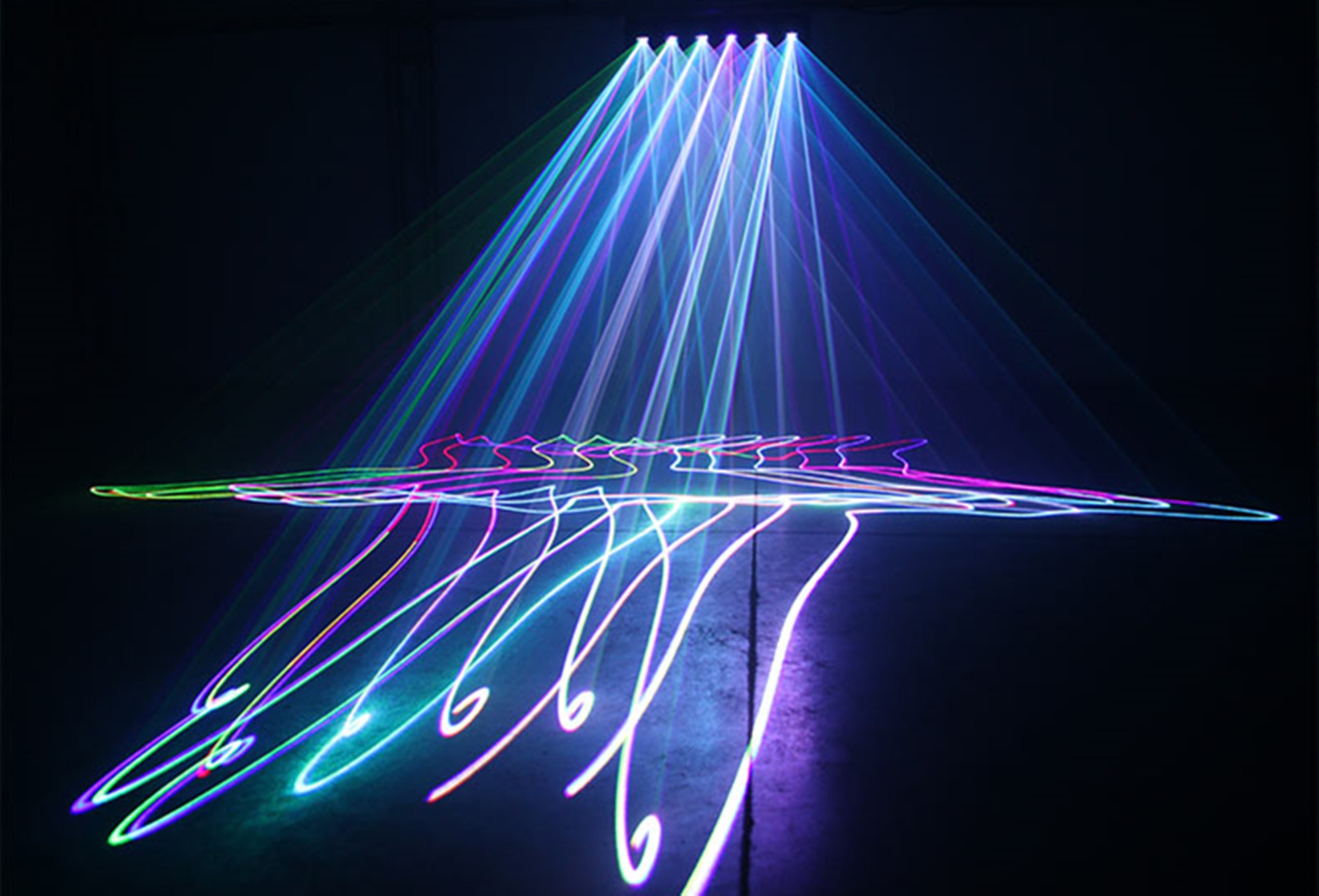 New LED six eyes RGBY laser disco party DMX512 light projector DJ music Christmas club professional stage lighting