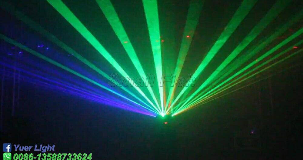 Dj Equipments 6 Heads Smart Beam Moving Head Light 700MW RGB Floral Color Laser Projector Christmas Lights Disco KTV RGB Laser