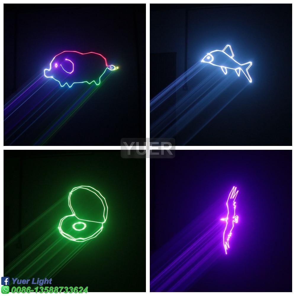 3W Full Color Animation Laser Light DMX512 Disco Laser Effect Projector Professional DJ Party Wedding Club Pattern Laser Lights