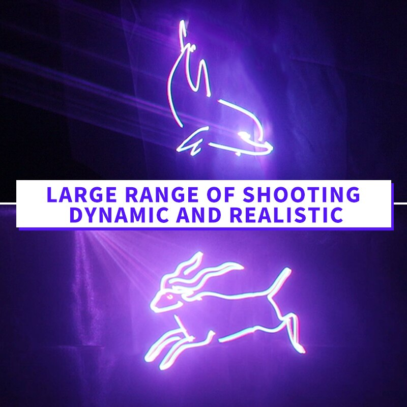 FAIRY Stage Lighting Effect Laser Dj Christmas Light Customizable  Words Pattern Animation Full Color 3D Remote Control