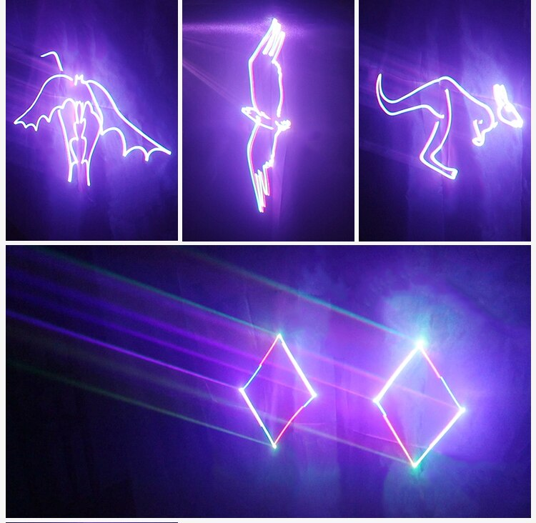 86LIGHT Stage Lighting Effect Laser Dj Christmas Light Customizable  Words Pattern Animation Full Color 3D Remote Control