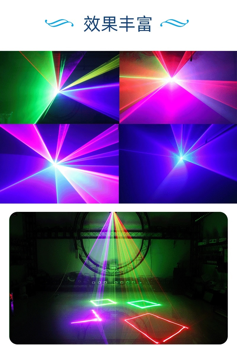 3W Waterproof Stage Effect Lighting Laser Projector DMX Sound Auto Modes For DJ Disco Party Event Concert Show Outdoor Lamp