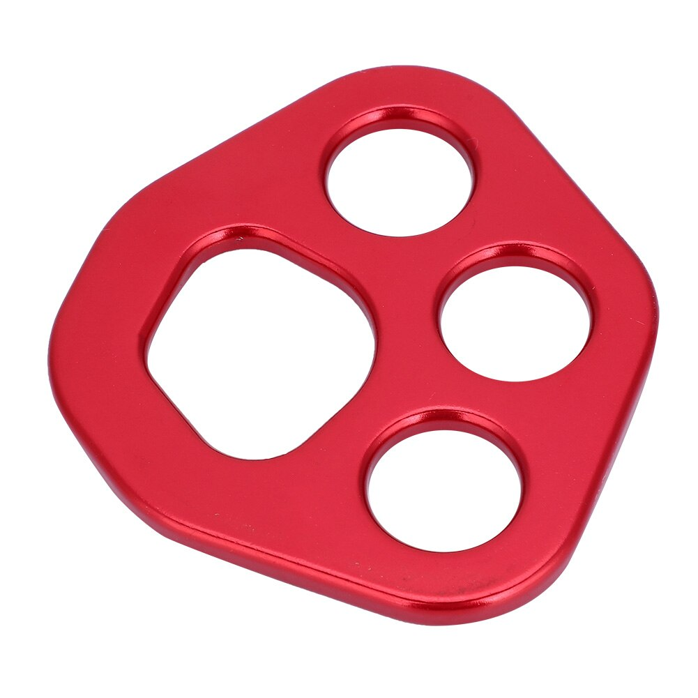 Outdoor 30KN 4 Holes Rigging Plate Aluminum Rock Climbing Multi Anchor Point Connector Free Shipping