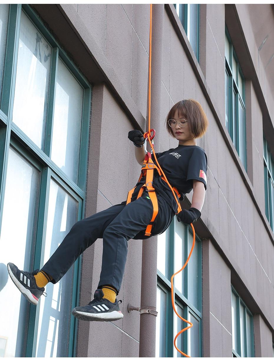 Xinda Rock Climbing Carabine 9 shape Rigging Descender Aluminum Figure Belay Device Abseiling Hoverable Downhill Equipment