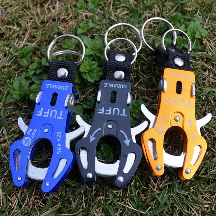 5Pcs Fast Hang Carabiners Hook Travel Kits Aluminum Alloy Tiger Buckle  Mountaineering Rigging Hook Camping Equipment Survival