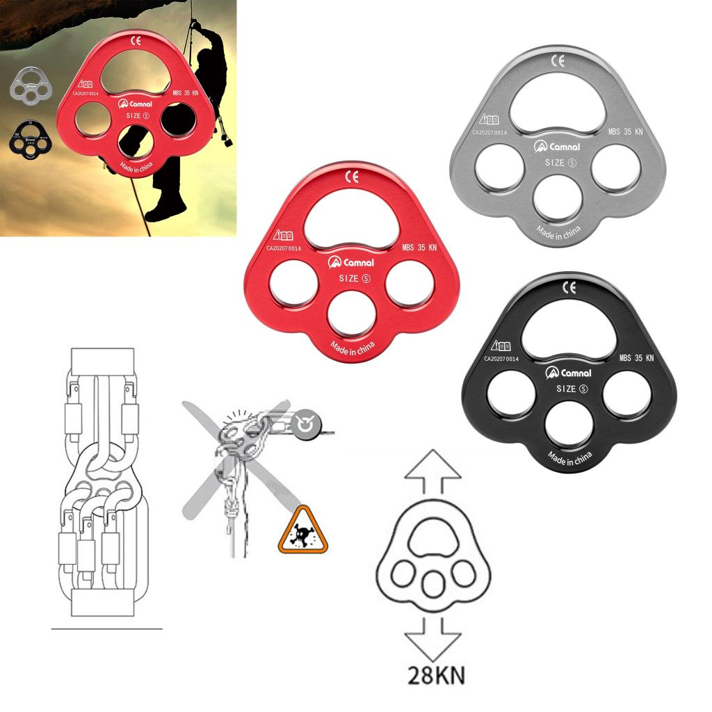 Descender Climbing Gear Downhill Equipment 35KN/3500kg Aluminum Alloy Rigging Plate for Climbing Belaying and Rappeling Device
