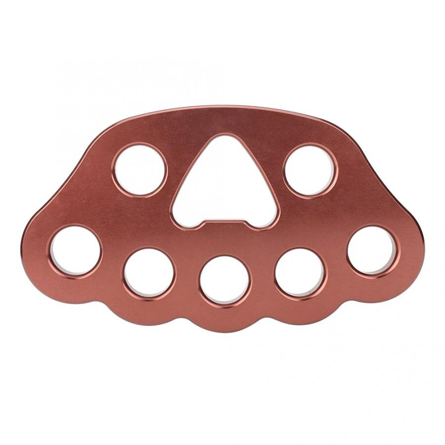 8 Holes Outdoor Professional Paw Rigging Plate Rock Climbing Multi Anchor Point Connector Gear Climbing  Rigging Plate